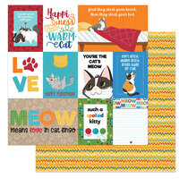 Photo Play Paper - Cat Lover Collection - 12 x 12 Double Sided Paper - Spoiled