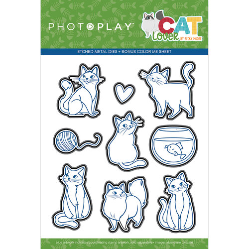 Photo Play Paper - Cat Lover Collection - Etched Die Set