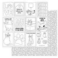 Photo Play Paper - Cat Lover Collection - 12 x 12 Double Sided Paper - Color Me Sheet