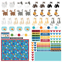 Photo Play Paper - Cat Lover Collection - 12 x 12 Paper - Elements
