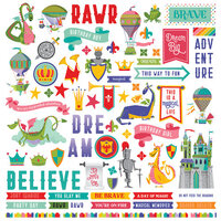 Photo Play Paper - Dragon Dreams Collection - 12 x 12 Cardstock Stickers - Element