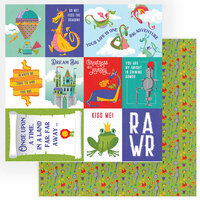 Photo Play Paper - Dragon Dreams Collection - 12 x 12 Double Sided Paper - Dream Big