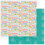 Photo Play Paper - Dragon Dreams Collection - 12 x 12 Double Sided Paper - Be Brave