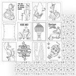 Photo Play Paper - Dragon Dreams Collection - 12 x 12 Double Sided Paper - Color Me