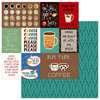 Photo Play Paper - Daily Grind Collection - 12 x 12 Double Sided Paper - But First Coffee