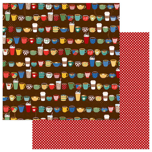 Photo Play Paper - Daily Grind Collection - 12 x 12 Double Sided Paper - Cup Of Joe