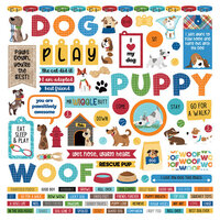 Photo Play Paper - Dog Lover Collection - 12 x 12 Cardstock Stickers - Elements