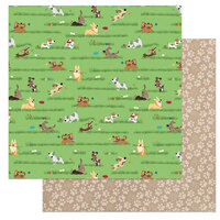 Photo Play Paper - Dog Lover Collection - 12 x 12 Double Sided Paper - Fetch