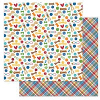 Photo Play Paper - Dog Lover Collection - 12 x 12 Double Sided Paper - Dog Toys