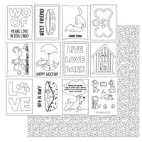 Photo Play Paper - Dog Lover Collection - 12 x 12 Double Sided Paper - Color Me Sheet