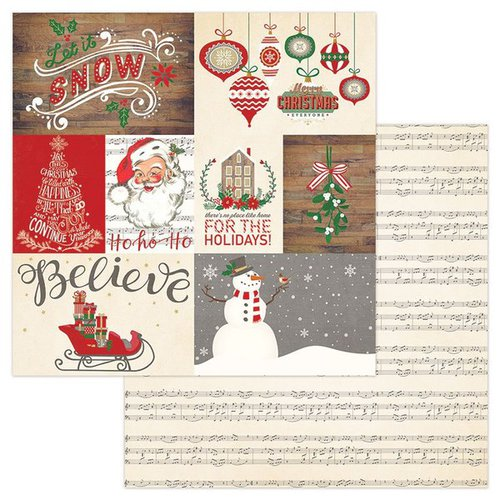 Photo Play Paper - Dear Santa Collection - Christmas - 12 x 12 Double Sided Paper - Let It Snow