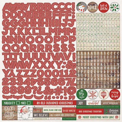 Photo Play Paper - Dear Santa Collection - Christmas - 12 x 12 Cardstock Stickers - Alphabet