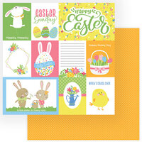Color Play - Easter Wishes Collection - 12 x 12 Double Sided Paper - Happy Easter