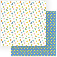 Color Play - Easter Wishes Collection - 12 x 12 Double Sided Paper - Egg Hunt