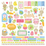 Color Play - Easter Wishes Collection - 12 x 12 Cardstock Stickers - Elements