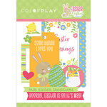 Color Play - Easter Wishes Collection - Die Cut Cardstock Pieces - Ephemera
