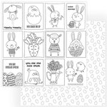 Color Play - Easter Wishes Collection - 12 x 12 Double Sided Paper - Color Me Easter