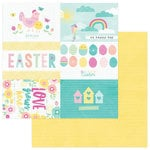 Photo Play Paper - Easter Blessings Collection - 12 x 12 Double Sided Paper - Easter Basket