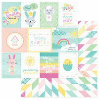 Photo Play Paper - Easter Blessings Collection - 12 x 12 Double Sided Paper - Spring Wishes