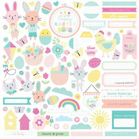 Photo Play Paper - Easter Blessings Collection - 12 x 12 Cardstock Stickers - Elements