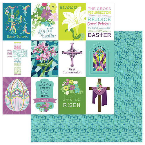 Photo Play Paper - Easter Joy Collection - 12 x 12 Double Sided Paper - Joyful