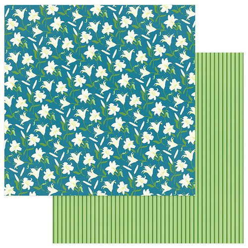 Photo Play Paper - Easter Joy Collection - 12 x 12 Double Sided Paper - Easter Lilies