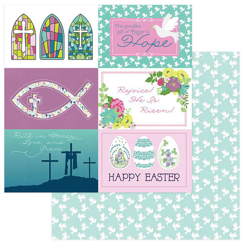 Photo Play Paper - Easter Joy Collection - 12 x 12 Double Sided Paper - Easter Morning