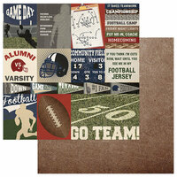 Photo Play Paper - End Zone Collection - 12 x 12 Double Sided Paper - Go Team