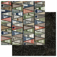 Photo Play Paper - End Zone Collection - 12 x 12 Double Sided Paper - No 1 Fan