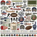 Photo Play Paper - End Zone Collection - 12 x 12 Cardstock Stickers - Elements