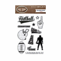 Photo Play Paper - End Zone Collection - Clear Acrylic Stamps