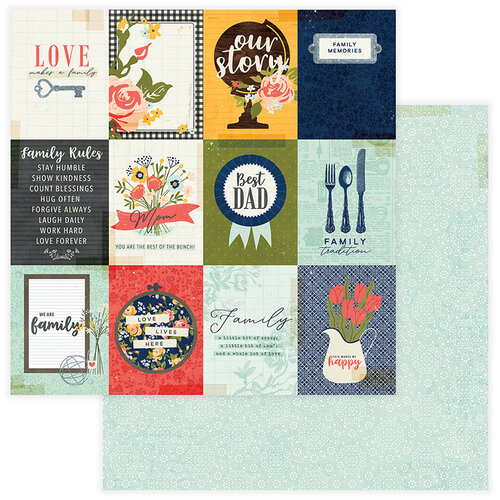 Photo Play Paper - We Are Family Collection - 12 x 12 Double Sided Paper - Family Rules