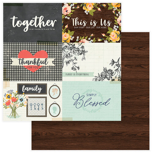 Photo Play Paper - We Are Family Collection - 12 x 12 Double Sided Paper - Our Story