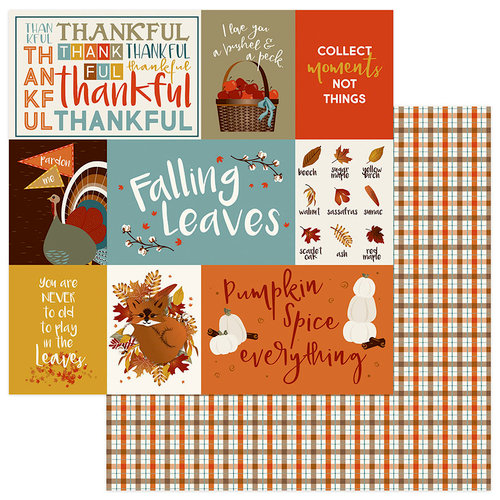 Photo Play Paper - Fall Breeze Collection - 12 x 12 Double Sided Paper - Thankful