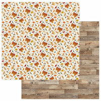Photo Play Paper - Fall Breeze Collection - 12 x 12 Double Sided Paper - Autumn Leaves