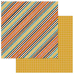 Photo Play Paper - Fall Breeze Collection - 12 x 12 Double Sided Paper - Breezy Stripes