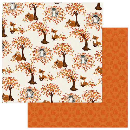 Photo Play Paper - Fall Breeze Collection - 12 x 12 Double Sided Paper - Leaf Play