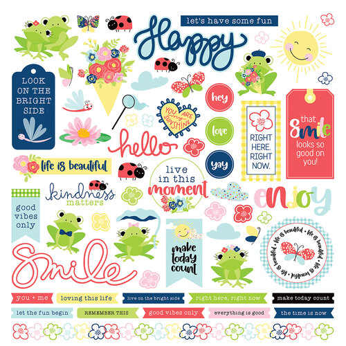Photo Play Paper - Fern and Willard Collection - 12 x 12 Cardstock Stickers - Elements