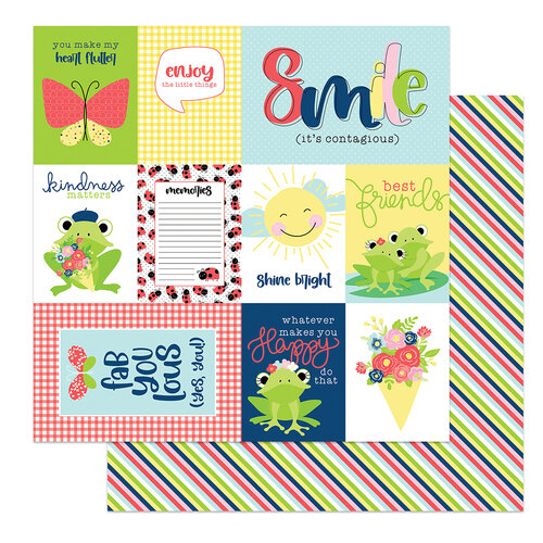 Photo Play Paper - Fern and Willard Collection - 12 x 12 Double Sided Paper - Smile