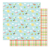 Photo Play Paper - Fern and Willard Collection - 12 x 12 Double Sided Paper - Flutter
