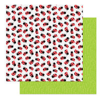 Photo Play Paper - Fern and Willard Collection - 12 x 12 Double Sided Paper - Ladybug