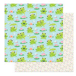 Photo Play Paper - Fern and Willard Collection - 12 x 12 Double Sided Paper - lily Pond