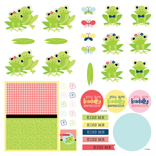 Photo Play Paper - Fern and Willard Collection - 12 x 12 Single Sided paper - Elements