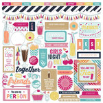 PhotoPlay Paper - Fun With Friends Collection - 12 x 12 Cardstock Stickers - Elements