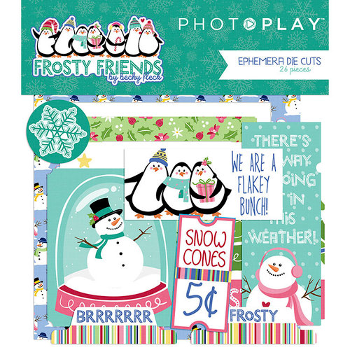Photo Play Paper - Frosty Friends Collection - Christmas - Ephemera