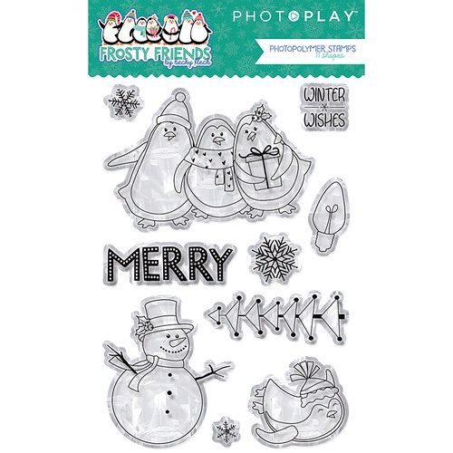 Photo Play Paper - Frosty Friends Collection - Christmas - Clear Photopolymer Stamps