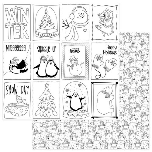 Photo Play Paper Color Me Snowman