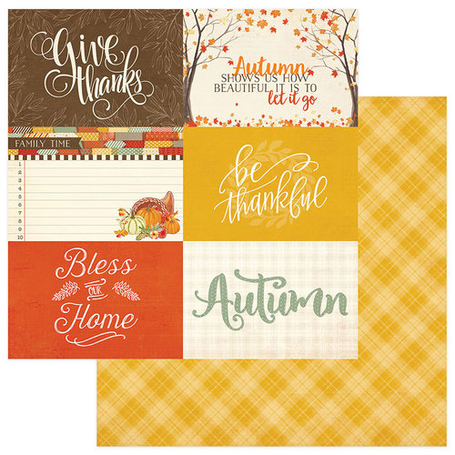Photo Play Paper - Falling Leaves Collection - 12 x 12 Double Sided Paper - 4 x 6 Cards
