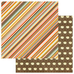 Photo Play Paper - Falling Leaves Collection - 12 x 12 Double Sided Paper - Autumn Stripe