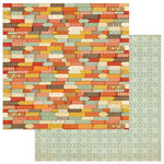 Photo Play Paper - Falling Leaves Collection - 12 x 12 Double Sided Paper - Autumn Color